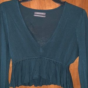Urban Outfitters Tops - Emerald green crop top